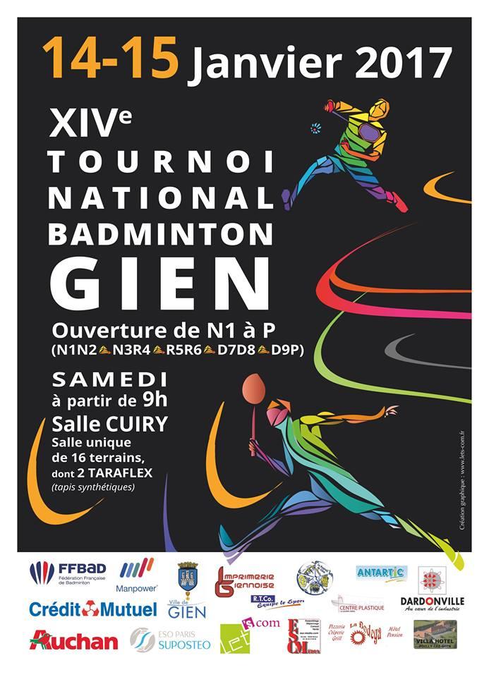 Affiche Tournoi de Gien 2017